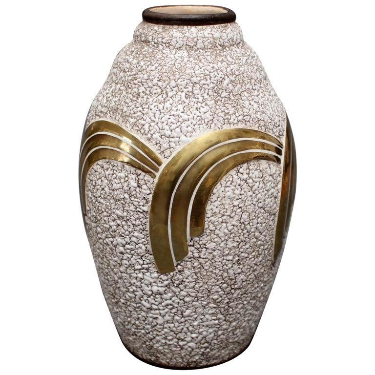 Art Deco Ceramic Vase by ODYV, circa 1930s