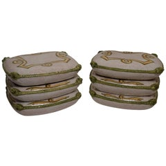 Vintage Pair of Ceramic Cushion Stools or Tables,  Italian