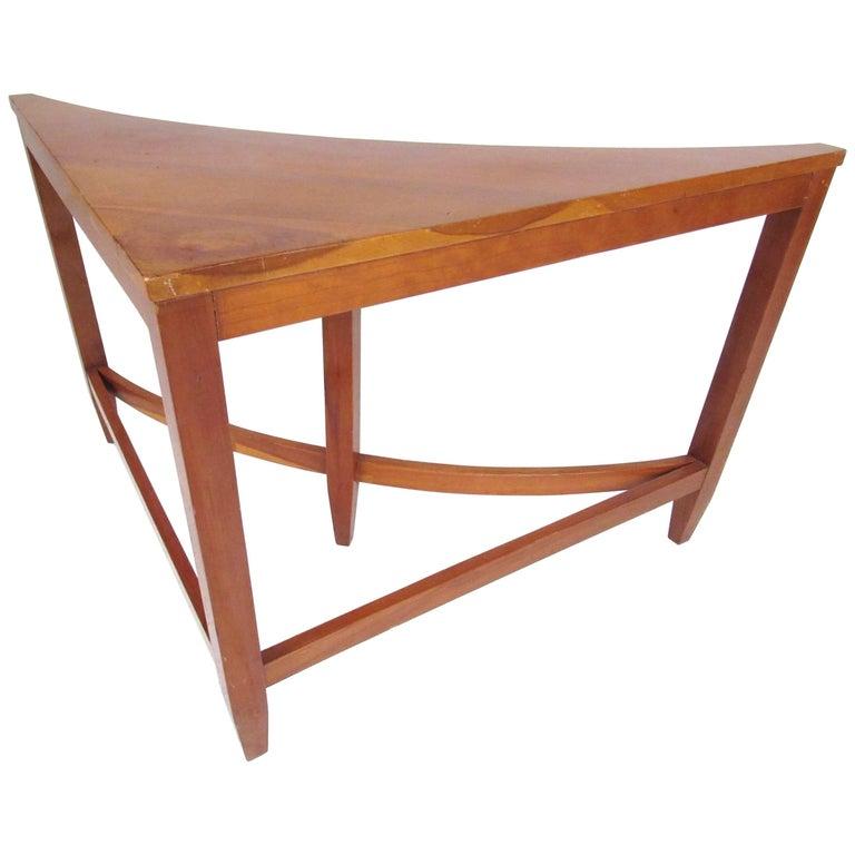 Vintage Modern Pinewood Corner Table