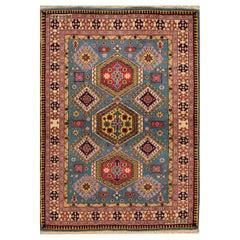 Vinatge Rust/Teal Persian Rug