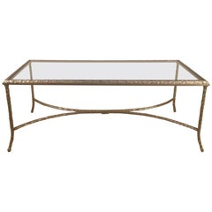 Large Silvered Bronze Cocktail Table by Maison Baguès