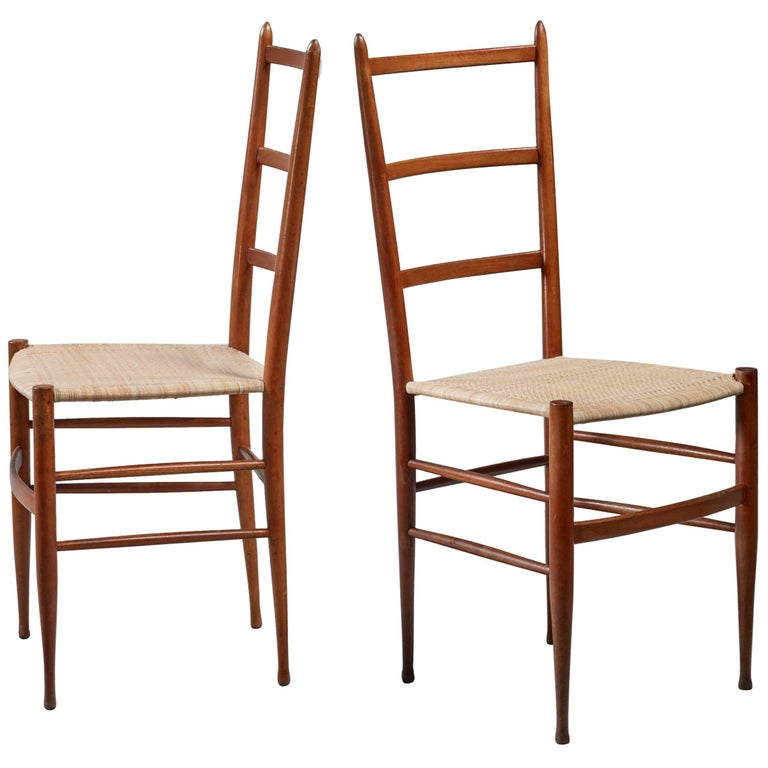 Pair of Chiavari chairs, Italy For Sale
