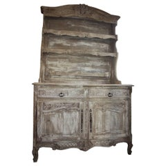 Washed or Bleached French Vaisselier or Cabinet/Bookcase