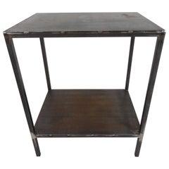 Baldwin Side Table, Natural Metal Finish