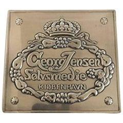 Georg Jensen Dealer Advertisement Sign in Sterling Silver