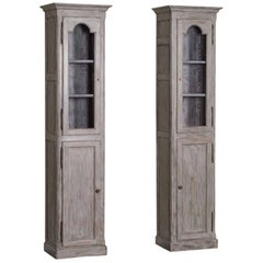 Pair of Antique French Painted Oak Cabinets, circa 1875