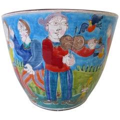 DeSimone Italian Hand-Painted Very Large Pot or Planter
