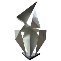 Vintage Abstract Origami Sculpture by Artist Edward D Hart