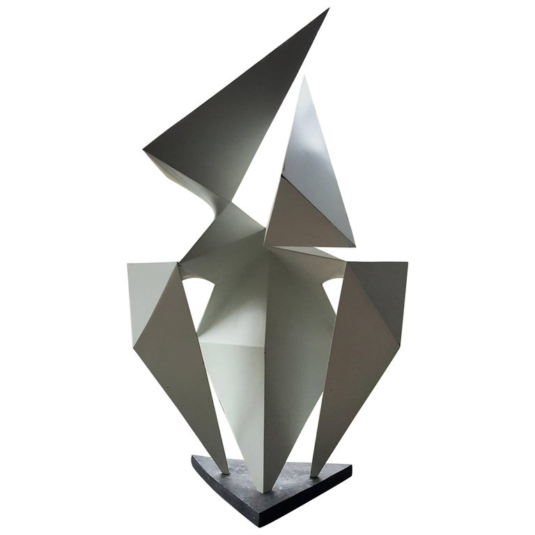 Vintage Abstract Origami Sculpture by Artist Edward D Hart For Sale