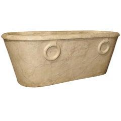 Antique Carrara Marble Bathtub from Italy, Early 1800s Genoa
