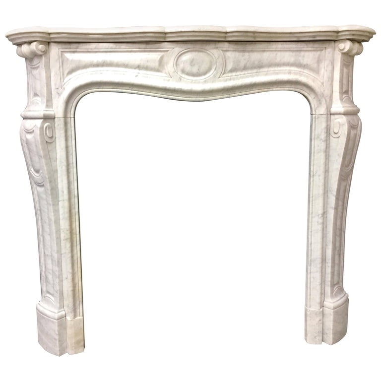 Antique French Victorian Louis Xvi Style Carved Marble Fireplace Surround For Sale At 1stdibs