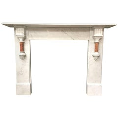 Antique Victorian Marble Fireplace Surround