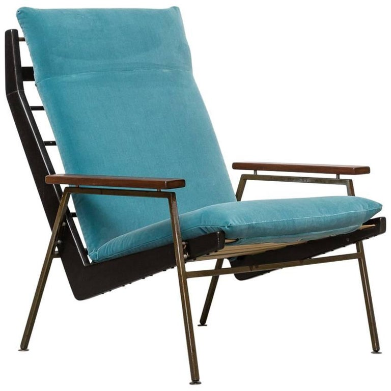 Robert Parry Lounge Chair with Teak Arm Rests For Sale