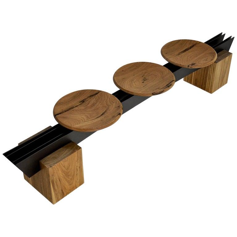 Bench Viga on Tropical Brazilian Hardwood