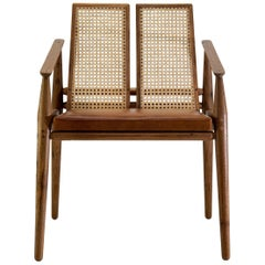 Chair Dalila on Tropical Brazilian Hardwood and Natural Leather