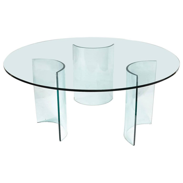 6662baa70cd Round Large Glass Dining Table