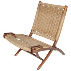 Folding Cord Lounge Chair, 1960s