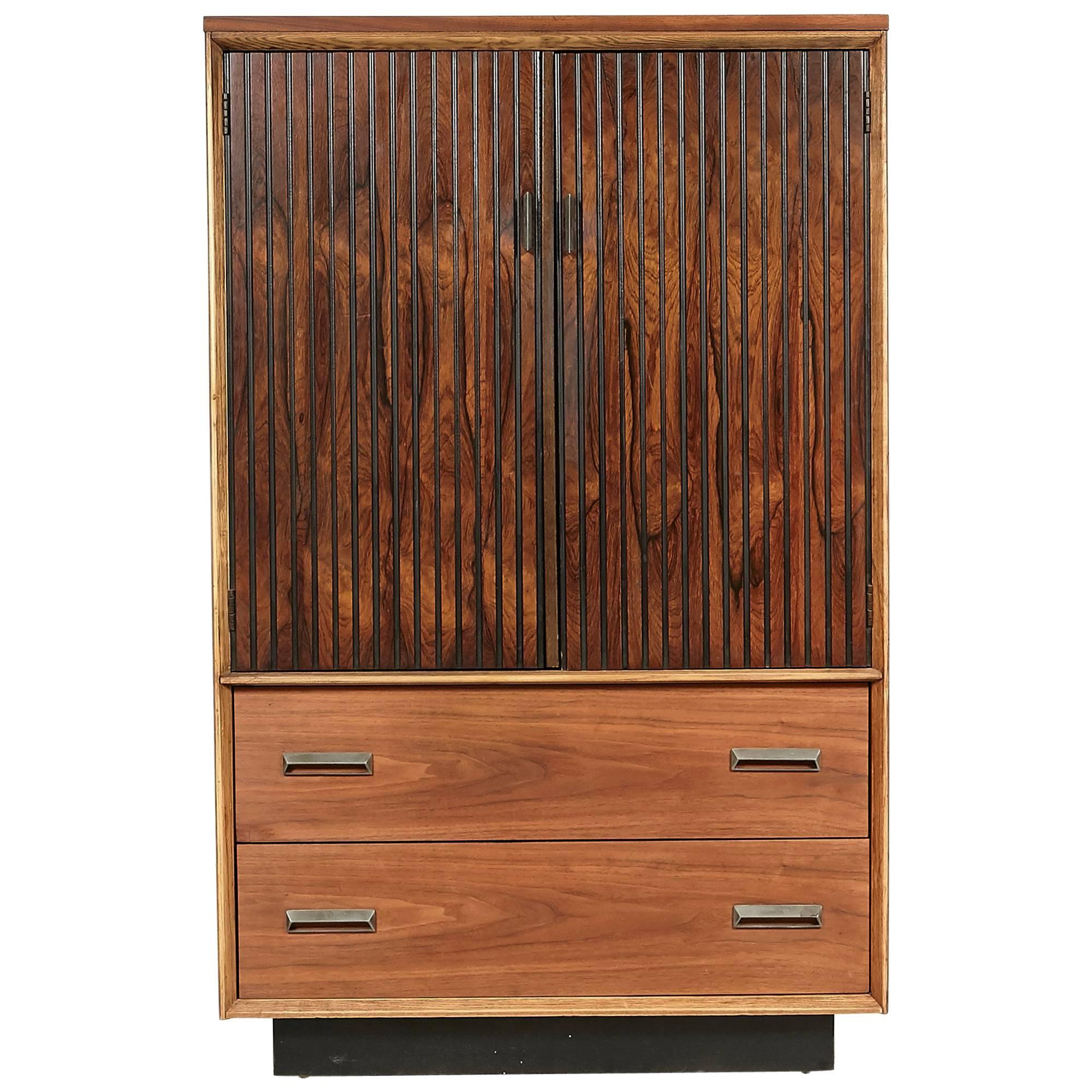1960s Bassett Furniture Walnut Tall Dresser