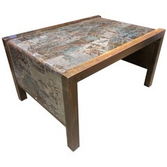 Philip and Kelvin LaVerne Etched Bronze Waterfall Side Table