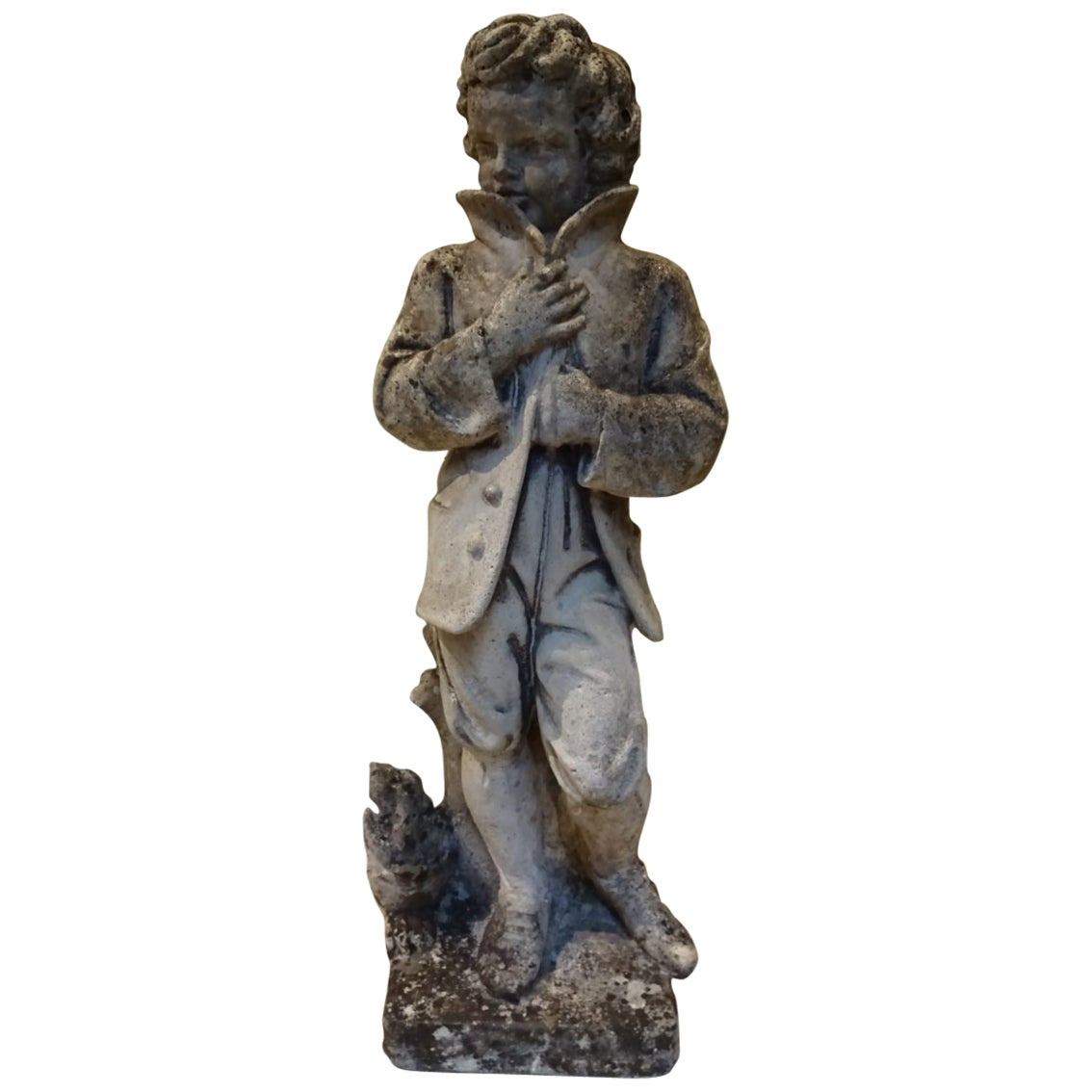 Garden Statue of a Boy