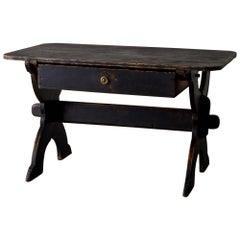 Desk Swedish 19th Century Black Rustic Sweden