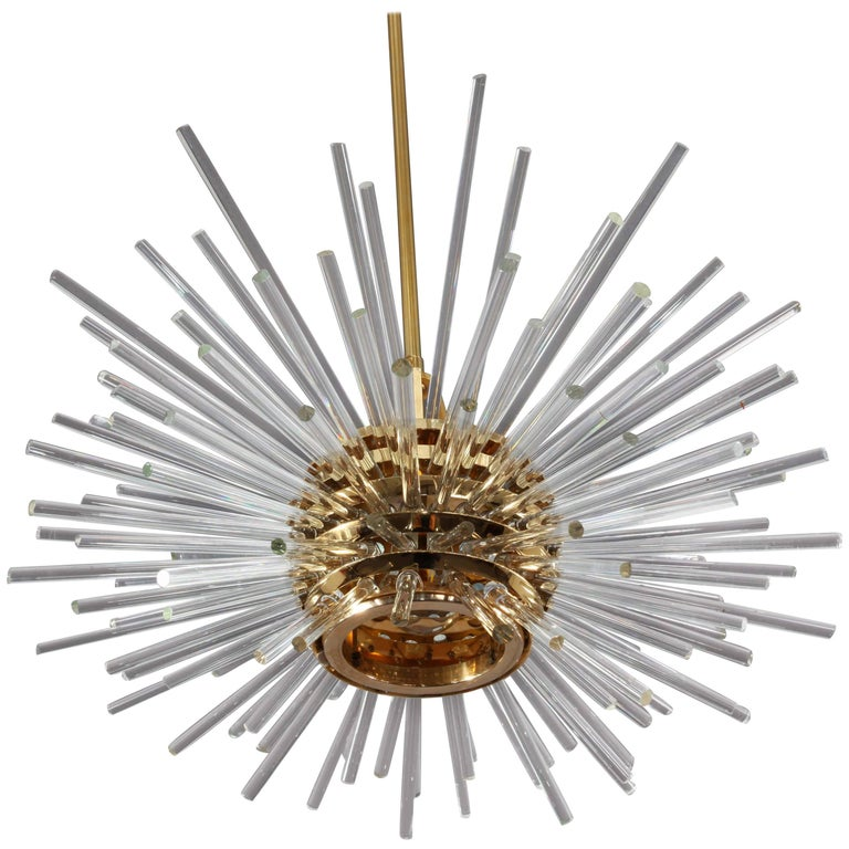 Gold-Plated 'Miracle' Chandelier by Bakalowits, Austria, Vienna, 1960s