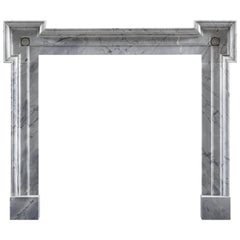 Carrara Marble Georgian Style Fireplace Frame Surround