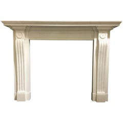 Neoclassical Fireplace Mantel in Marble