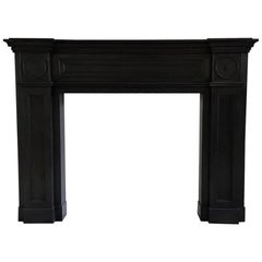Bold Fireplace Mantle in Black Marble