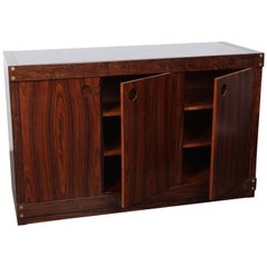 Sergio Rodrigues Rosewood Three-Door Credenza