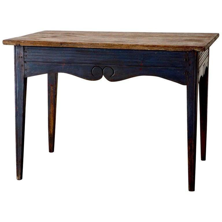 Table Swedish Blue 19th Century Sweden