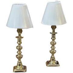 Pair of Edwardian Brass Candlesticks