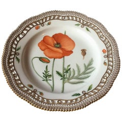 Royal Copenhagen Flora Danica Dinner Plate with Pierced Border no 3553