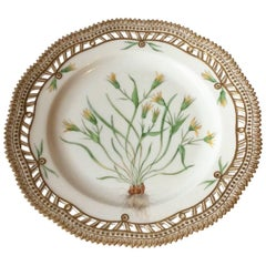 Royal Copenhagen Flora Danica Lunch Plate with Pierced Border No. 3554