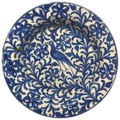 Blue and White Persian Bird Plate