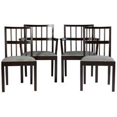 Set of Four Chairs, Designed by Axel Einar Hjorth for NK, Sweden, 1930s