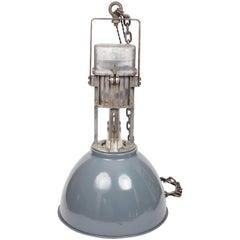 Vintage Industrial Enamel Shade Hanging Light