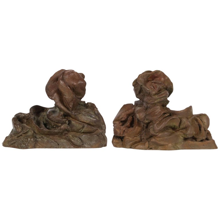 Pair of Modern Bronze Abstract Animal Figures