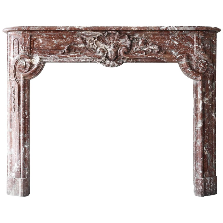 18th Century Antique French Marble Fireplace Mantle - Regency period