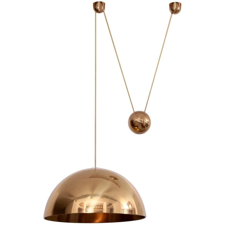 Rare Florian Schulz Solan Counterweight Lamp, Germany, 1982 in Brass