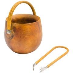 Auböck Wood Sugar Bowl with Sugar Pincer