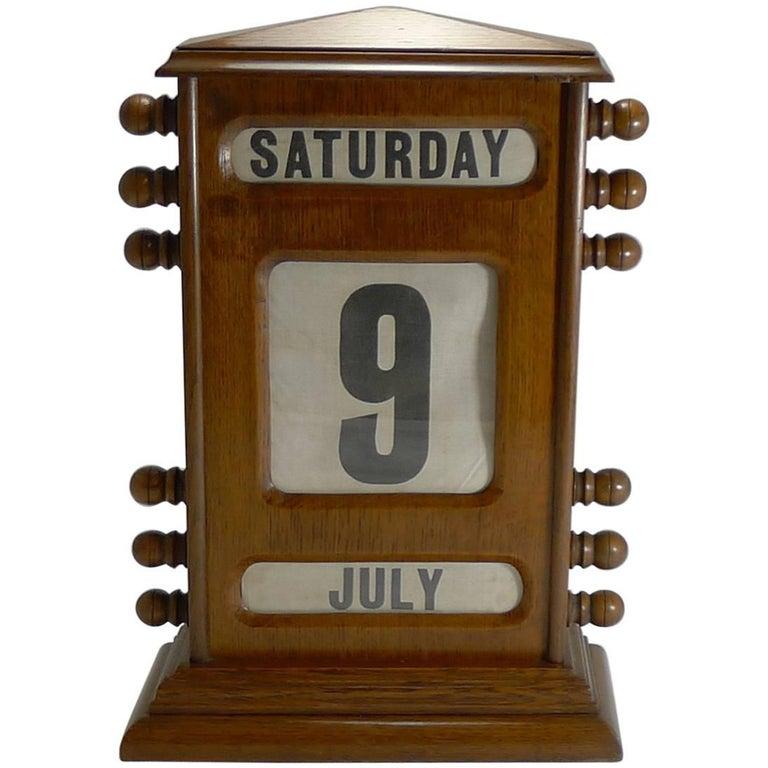 Antique English Perpetual Desk Calendar For Sale - Antique English Perpetual Desk Calendar At 1stdibs