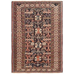 Small Size Antique Tribal Perpedil Caucasian Rug