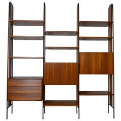 1960s Bookcase with Adjustable Shelves