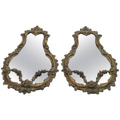 19th Century Pair of French Rococo Mirrors