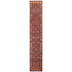 Tribal Long Antique Navy Northwest Persian Runner Rug