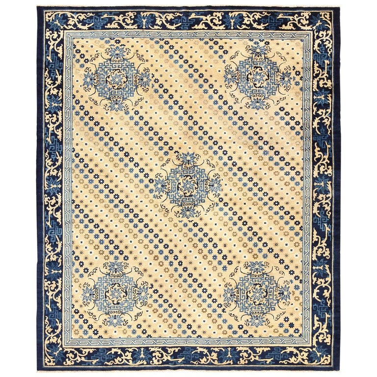 Antique Chinese Rug: Room Size Antique Chinese Rug For Sale At 1stdibs