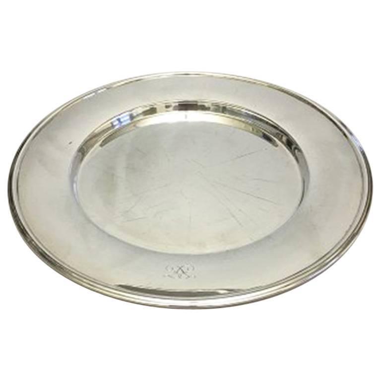 Hans Hansen Karl Gustav Hansen Large Tray in Sterling Silver #461