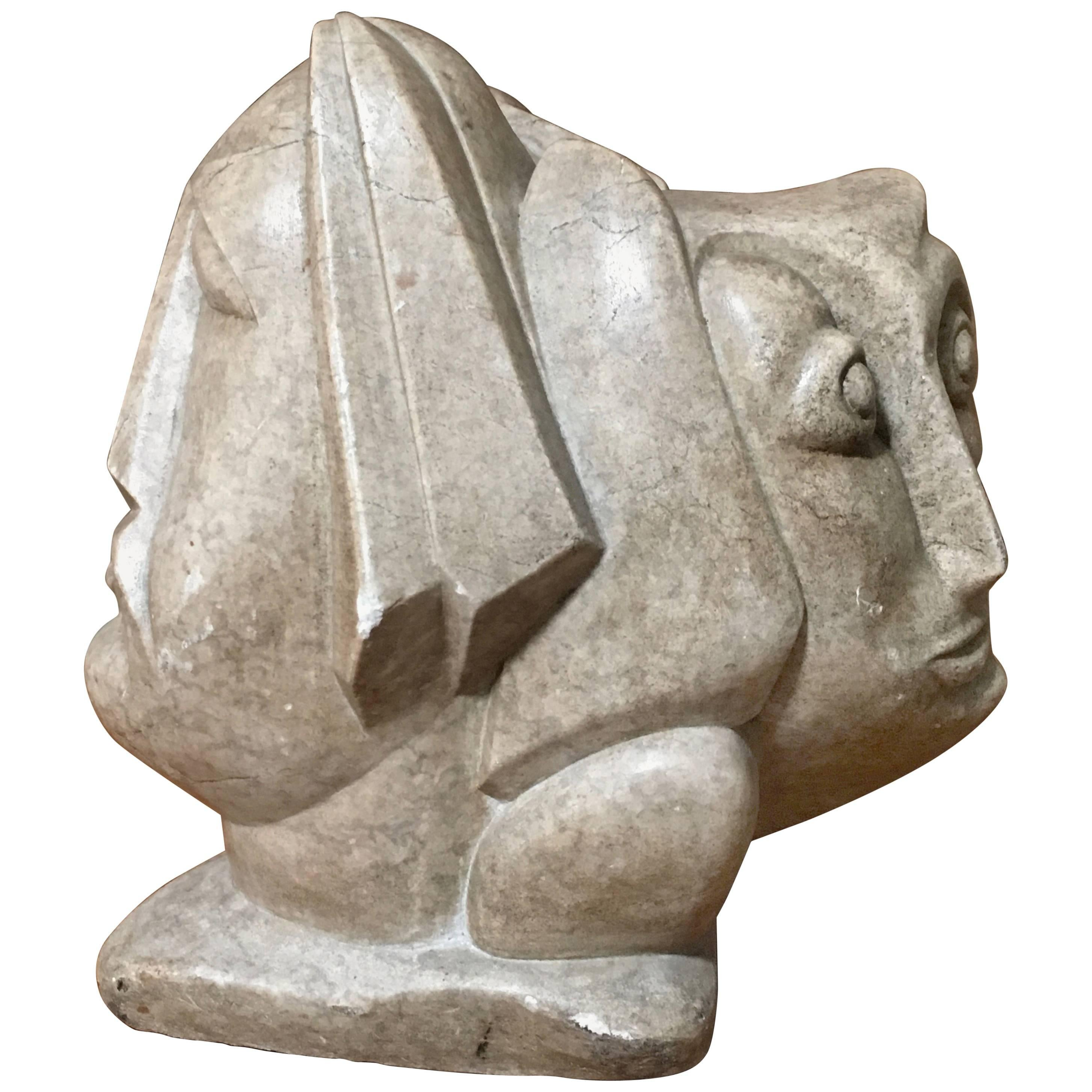 20th Century Abstract Marble Sculpture