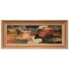 Midcentury Original Abstract Painting by E. Chamberum